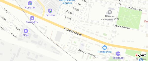 Обуховская улица на карте Челябинска с номерами домов
