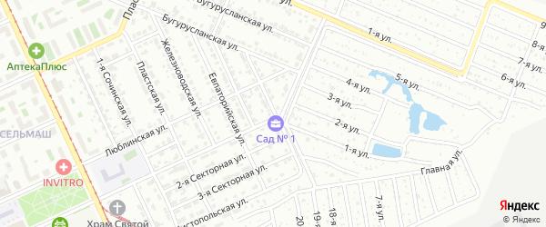 Долинская улица на карте Челябинска с номерами домов