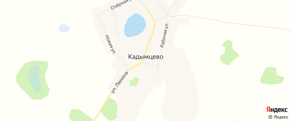 Карта села Кадымцево в Челябинской области с улицами и номерами домов