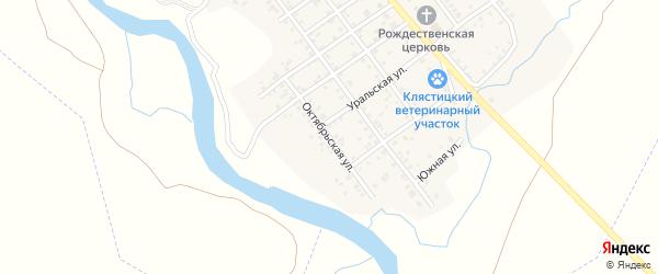 Октябрьская улица на карте Клястицкое села с номерами домов