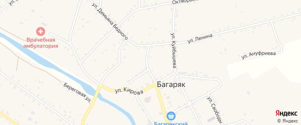 Береговая улица на карте села Багаряка с номерами домов