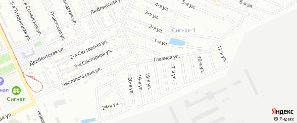 Сигнал 1 сад 1 на карте Челябинска с номерами домов