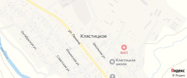 Юбилейная улица на карте Клястицкое села с номерами домов