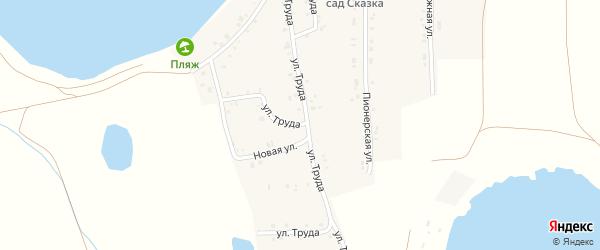 Улица Труда на карте села Александровки с номерами домов