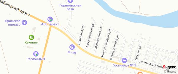 Механическая улица на карте Троицка с номерами домов