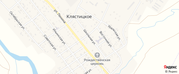 Школьная улица на карте Клястицкое села с номерами домов