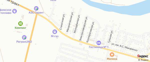 Молодежная улица на карте Троицка с номерами домов
