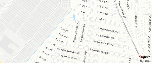Бессарабская улица на карте Челябинска с номерами домов