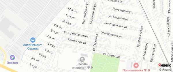 Улица Прессовщиков на карте Челябинска с номерами домов