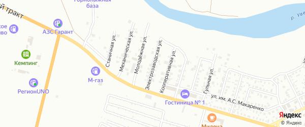 Электрозаводская улица на карте Троицка с номерами домов