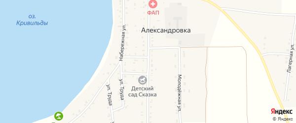Пионерская улица на карте села Александровки с номерами домов