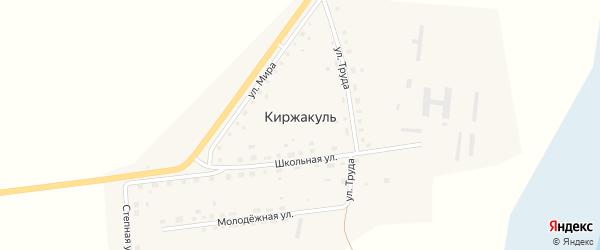 Молодежная улица на карте деревни Киржакуля с номерами домов