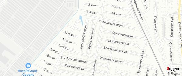 Безымянная улица на карте Челябинска с номерами домов