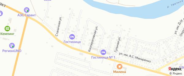 Кооперативная улица на карте Троицка с номерами домов