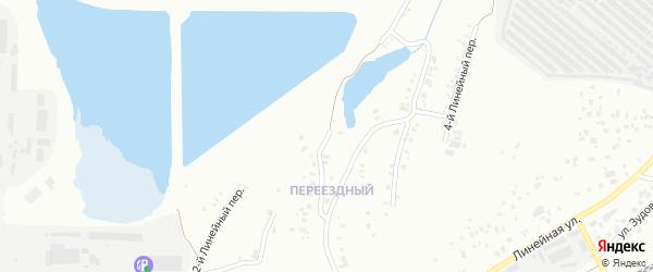 Линейный 1-й переулок на карте Челябинска с номерами домов