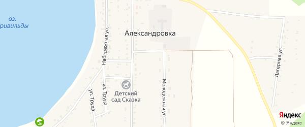Лагерная улица на карте села Александровки с номерами домов