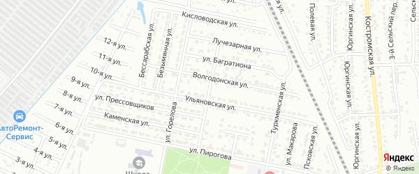 Автомобильная улица на карте Челябинска с номерами домов