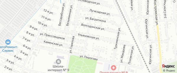 Ульяновская улица на карте Челябинска с номерами домов