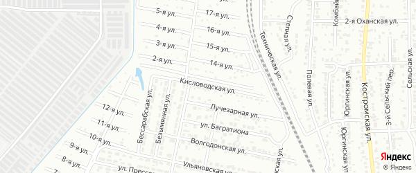 Кисловодская улица на карте Челябинска с номерами домов