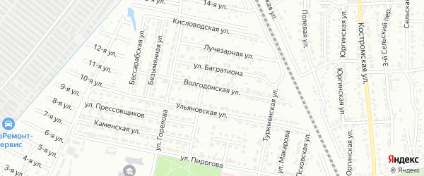 Волгодонская улица на карте Челябинска с номерами домов