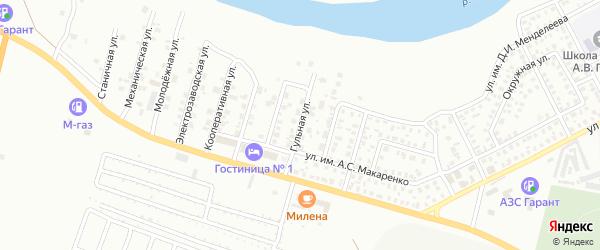 Гульная улица на карте Троицка с номерами домов