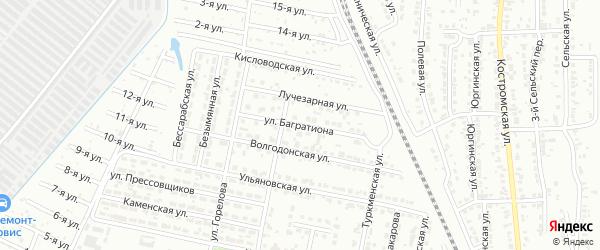 Улица Багратиона на карте Челябинска с номерами домов