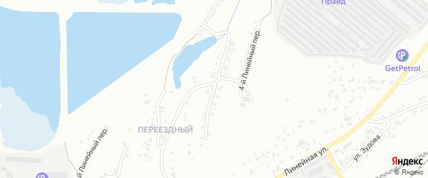Линейный 3-й переулок на карте Челябинска с номерами домов