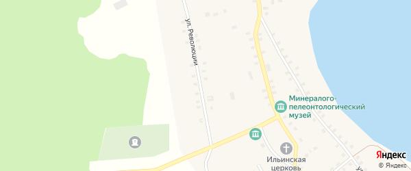Улица Революции на карте Огневского села с номерами домов