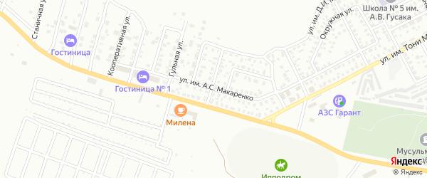 Улица им А.С.Макаренко на карте Троицка с номерами домов
