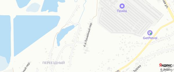 Линейный 4-й переулок на карте Челябинска с номерами домов