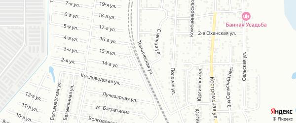 Техническая улица на карте Челябинска с номерами домов