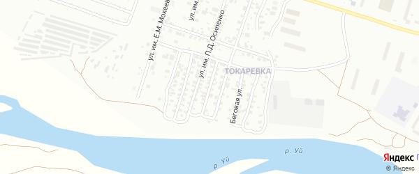 Улица им Н.Г.Чернышевского на карте Троицка с номерами домов