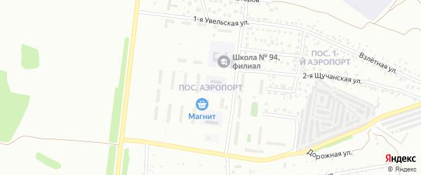 Поселок Аэропорт на карте Челябинска с номерами домов