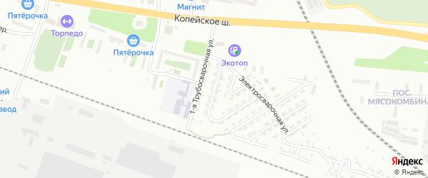 Трубосварочная 2-я улица на карте Челябинска с номерами домов