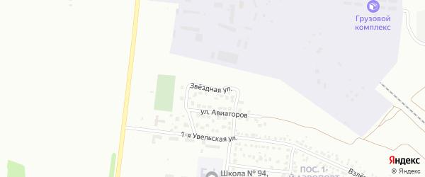 Звездная улица на карте Челябинска с номерами домов