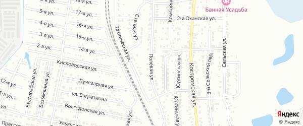 Полевая улица на карте Челябинска с номерами домов