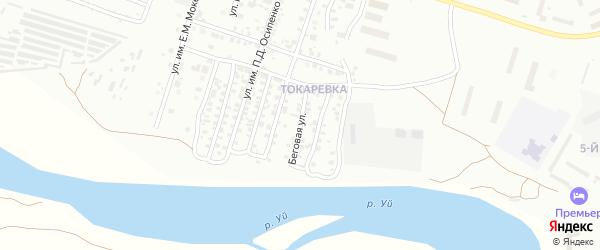 Беговая улица на карте Троицка с номерами домов