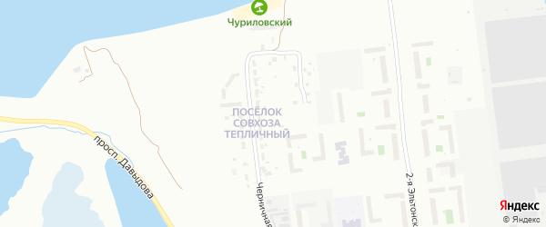 Свх Тепличный поселок на карте Челябинска с номерами домов