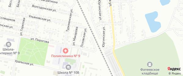 Тульская улица на карте Челябинска с номерами домов
