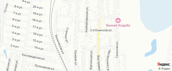 Комбайнерская улица на карте Челябинска с номерами домов