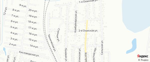Оханская 2-я улица на карте Челябинска с номерами домов