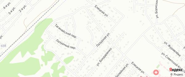 Лазурный переулок на карте Копейска с номерами домов