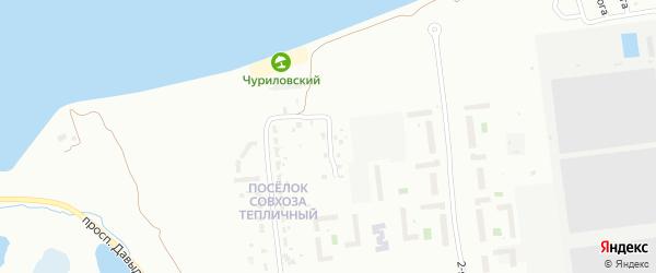 Ежевичный переулок на карте Челябинска с номерами домов