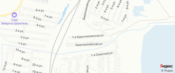 Краснохолмская 1-я улица на карте Челябинска с номерами домов
