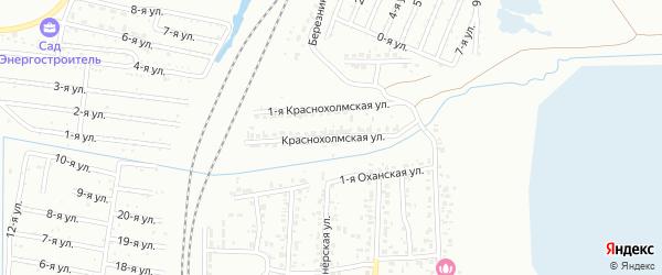Краснохолмская улица на карте Челябинска с номерами домов