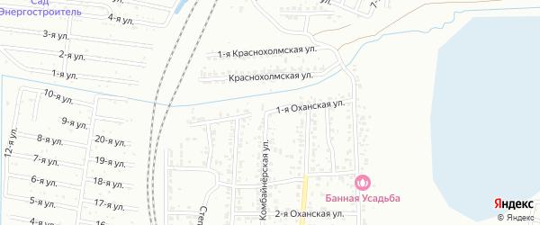 Оханская 1-я улица на карте Челябинска с номерами домов