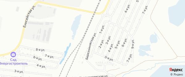 Березниковская 2-я улица на карте Челябинска с номерами домов
