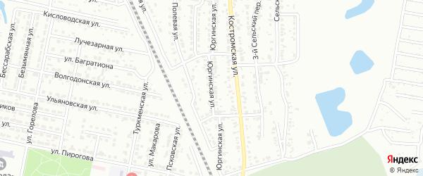 Юргинская улица на карте Челябинска с номерами домов
