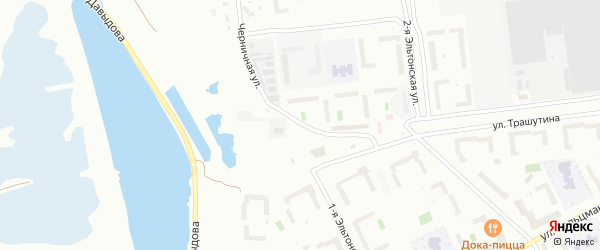 Черничная улица на карте Челябинска с номерами домов