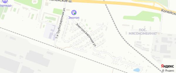 Трубосварочная 4-я улица на карте Челябинска с номерами домов